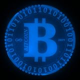 Bitcoin icon Royalty Free Stock Photo