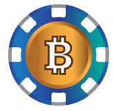 BitCoin Icon Design Royalty Free Stock Image