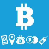 Bitcoin icon set Royalty Free Stock Photos