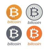 Bitcoin icon stock image