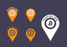 Bitcoin icons Royalty Free Stock Photos