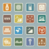 Bitcoin icons set Royalty Free Stock Images