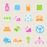 Bitcoin icons set royalty free illustration