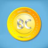 Bitcoin ikona Fotografia Royalty Free