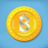 Bitcoin ikona Fotografia Stock