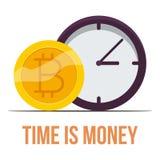 Bitcoin ikona, kreskówka styl Obraz Royalty Free