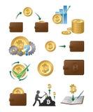 Bitcoin-Ikonen-Illustration Stockbilder