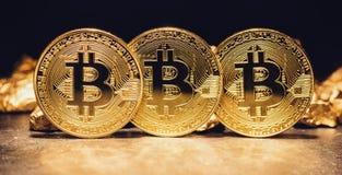 Bitcoin il nuovo oro digitale fotografia stock libera da diritti