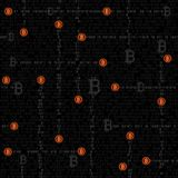 Bitcoin mining code texture. Bitcoin internet code texture background. Financial crypto electronic currency. Modern and future internet money seamless backdrop Royalty Free Stock Photography