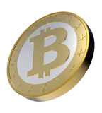 Bitcoin isolated on white. Stock Photos