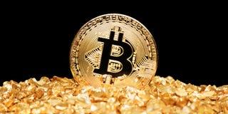 Bitcoin ist neues Gold Stockfoto