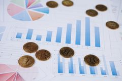 Bitcoin jest nowożytnym sposobem wymiana i ten crypto waluta Zdjęcia Royalty Free