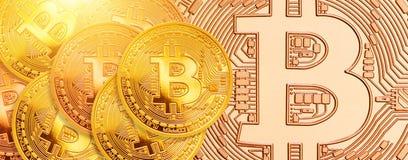 Bitcoin - kawałek menniczy BTC nowa crypto waluta royalty ilustracja