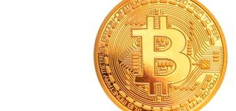 Bitcoin - kawałek menniczy BTC nowa crypto waluta obraz stock