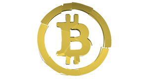 Bitcoin knackt und explodiert stock video footage