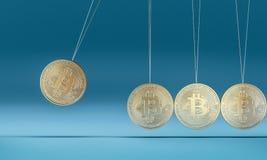 Bitcoin kołyska 3d royalty ilustracja