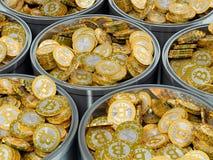 Bitcoin kopalnictwo Fotografia Stock