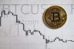 Bitcoin-Kriptographieänderungen Stockfoto