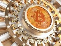 Bitcoin krypty drzwi Obraz Stock