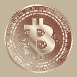 Bitcoin-Kupfer Lizenzfreie Stockfotografie