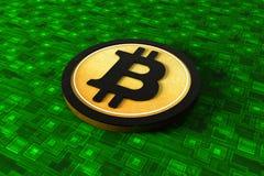 Bitcoin, l'era di Cryptocurrency Fotografia Stock Libera da Diritti