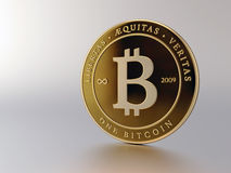 Bitcoin on Light Background Stock Photo