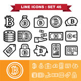Bitcoin Line icons set 46. Illustration eps 10 Stock Images