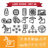 Bitcoin Line icons set 48. Illustration eps 10 Royalty Free Stock Image
