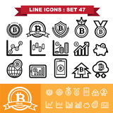 Bitcoin Line icons set 47. Illustration eps 10 Royalty Free Stock Photography