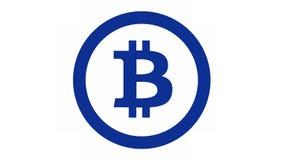 Bitcoin logo Fotografering för Bildbyråer
