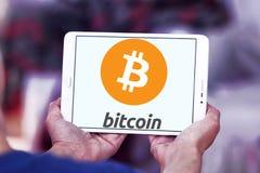 Bitcoin-Logo Stockfotografie
