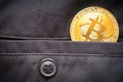 Bitcoin logo gold coin last bitcoin symbol stock photo