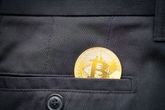 Bitcoin logo gold coin last bitcoin symbol royalty free stock photography