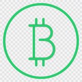Bitcoin logotype cryptocurrency transparent background. EPS 10 Royalty Free Stock Image