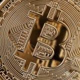 Bitcoin-Münze, cryptocurrency und blockchain Konzept Lizenzfreies Stockbild