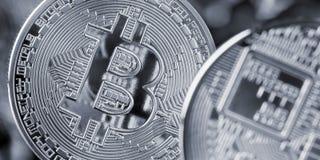 Bitcoin-Münze, cryptocurrency und blockchain Konzept Lizenzfreie Stockfotos