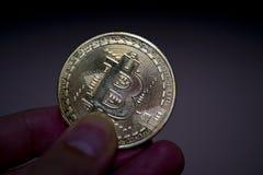 Bitcoin-Münzen Stockfotografie