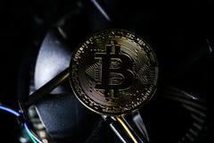 Bitcoin-Münzen Stockbild