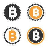 Bitcoin-Münzen-Vektor-Ikonen-Satz Lizenzfreie Stockfotos