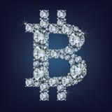 Bitcoin maakte heel wat diamanten Cryptocurrency Royalty-vrije Stock Foto