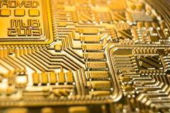 Bitcoin, makro- fotografia obraz stock