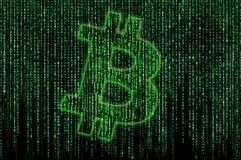Bitcoin matrix Royalty Free Stock Image