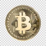 Bitcoin med den snabba banan Fotografering för Bildbyråer