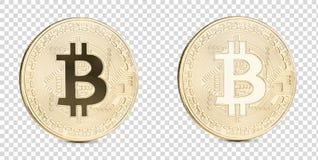 Bitcoin met het knippen van weg stock afbeelding