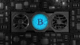 Bitcoin Mining Concept Royalty Free Stock Photography