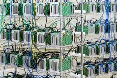 Bitcoin mining Stock Photos