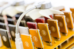 Bitcoin mining Royalty Free Stock Images