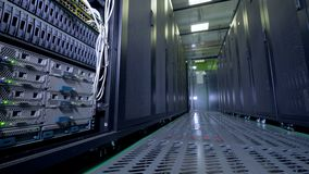 Bitcoin mining servers. 4K.