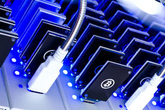 Bitcoin mining Stock Photography