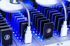 Bitcoin mining Royalty Free Stock Photo